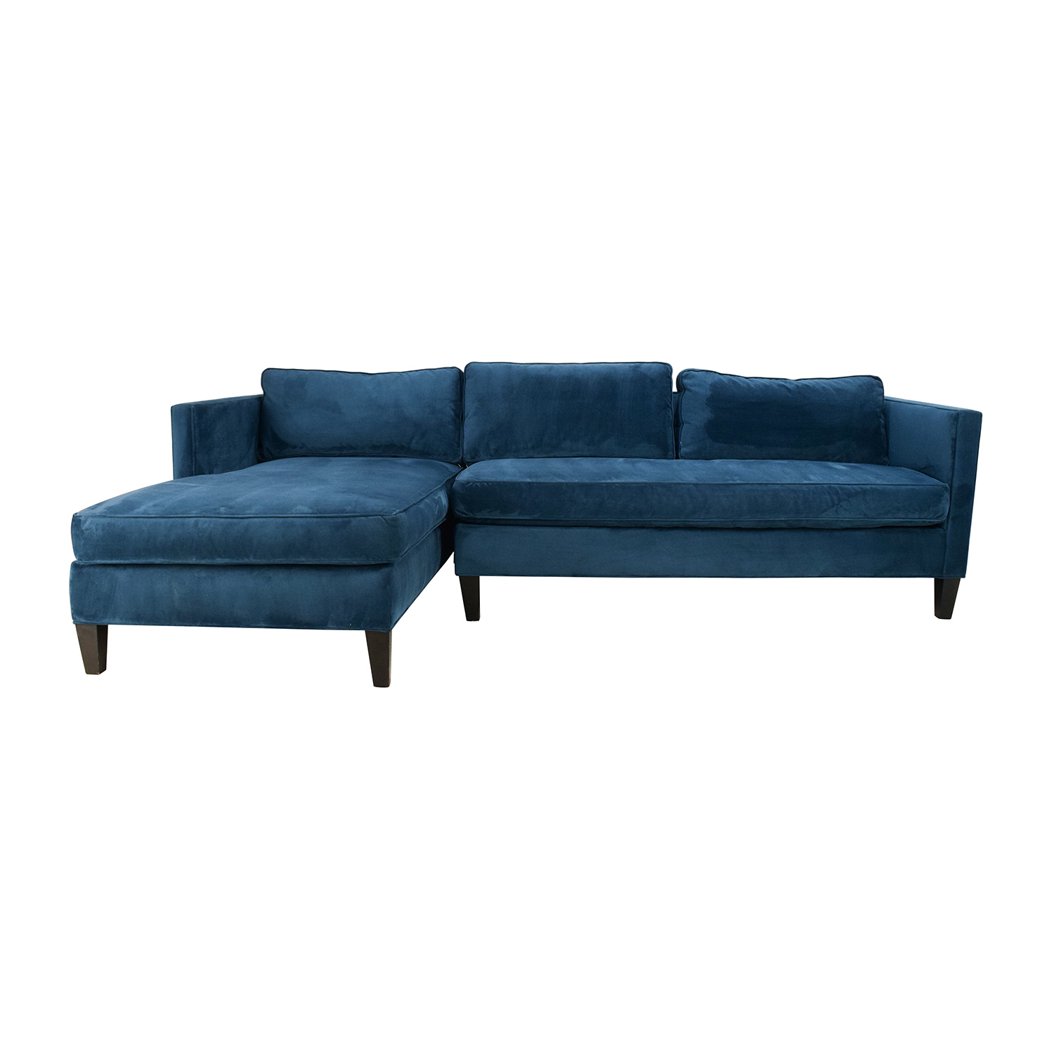 dunham sofa lazar prague 50 off west elm urban grey chaise sectional sofas sale