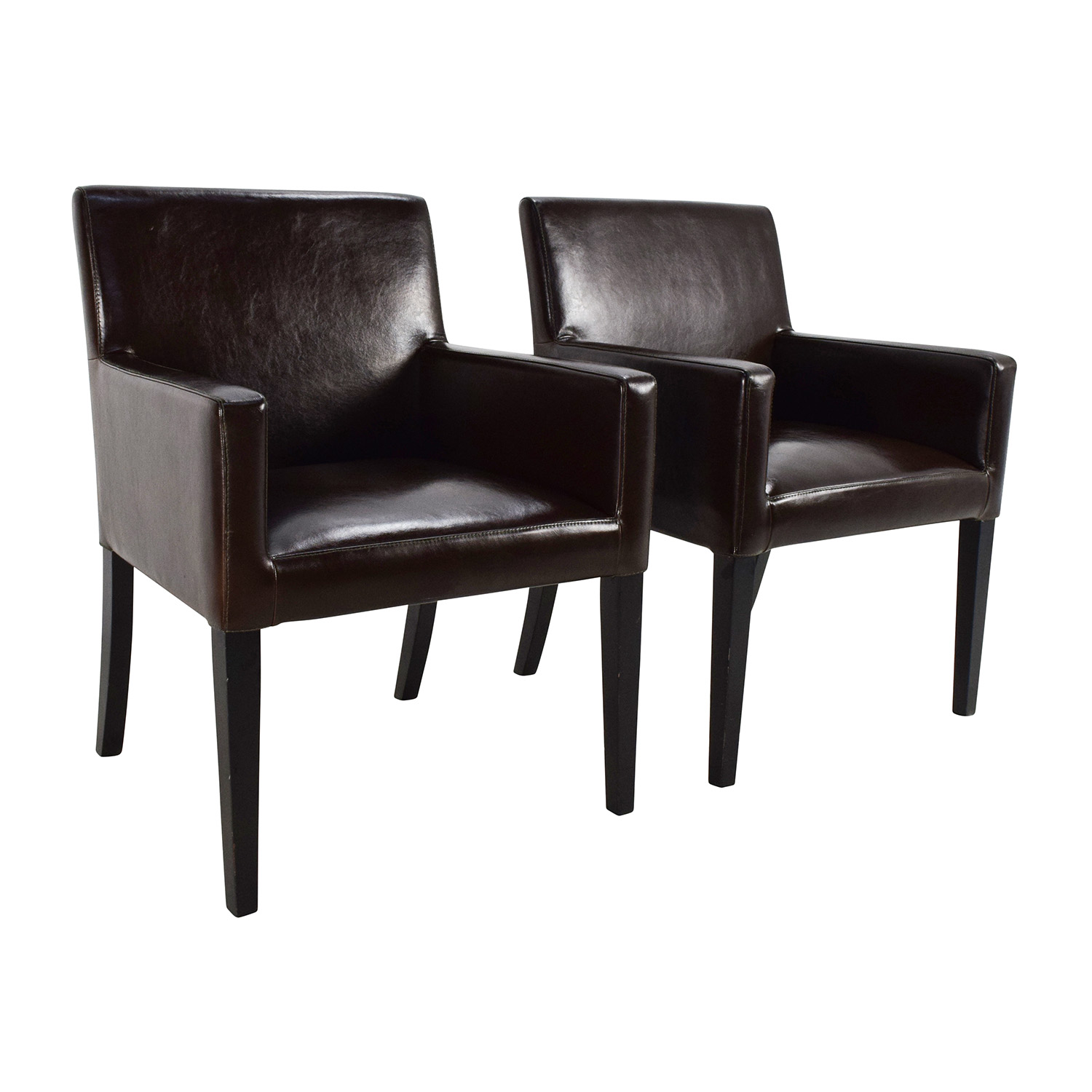 82 OFF  Black Leather Office Chairs  Chairs