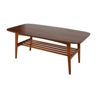 48% OFF - Brown Wood Coffee Table With Shelf / Tables