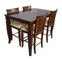 75% OFF - Tall Extendable Dining Room Table Set / Tables