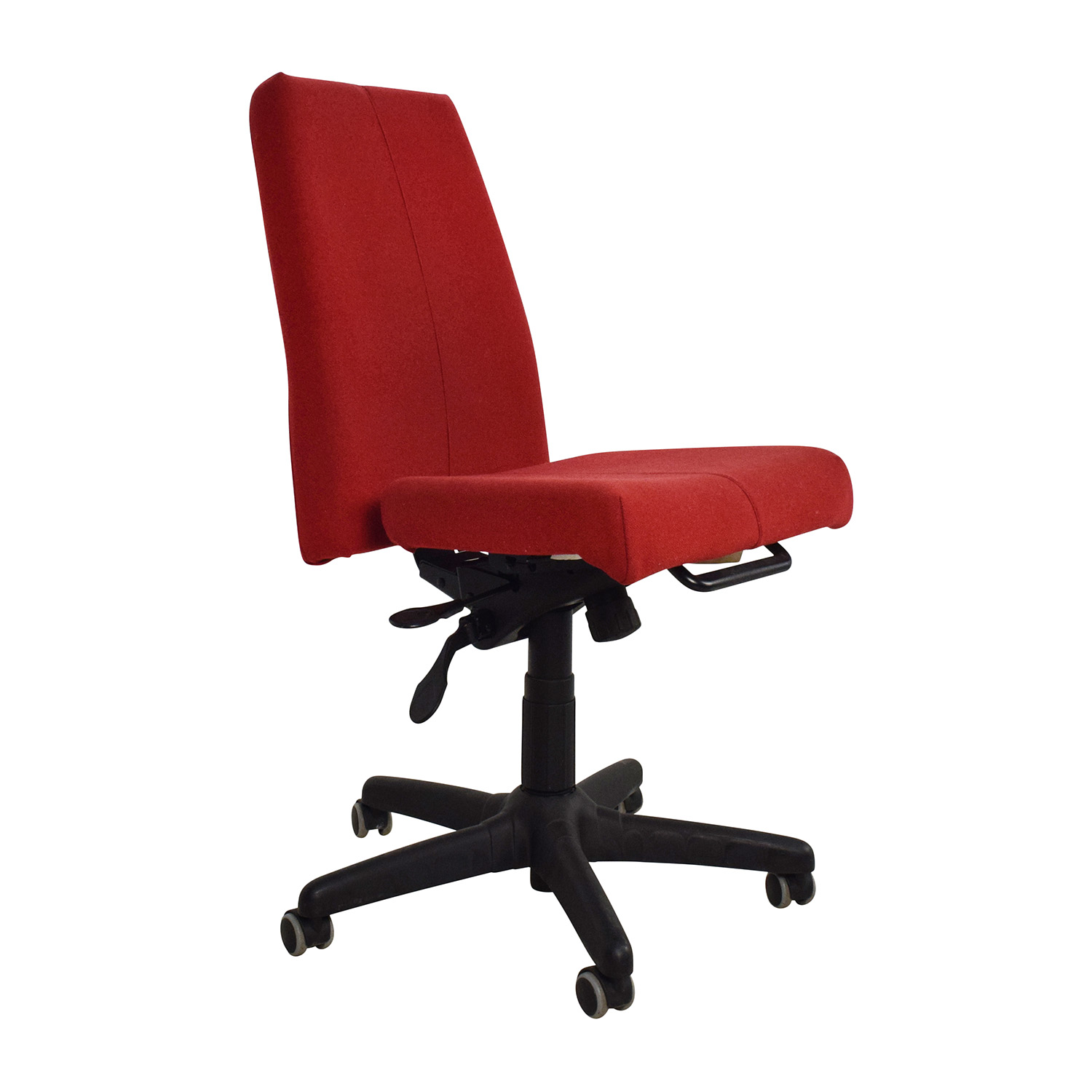 Armless Desk Chairs 90 Off Red Armless Adjustable Home Office Chair Chairs