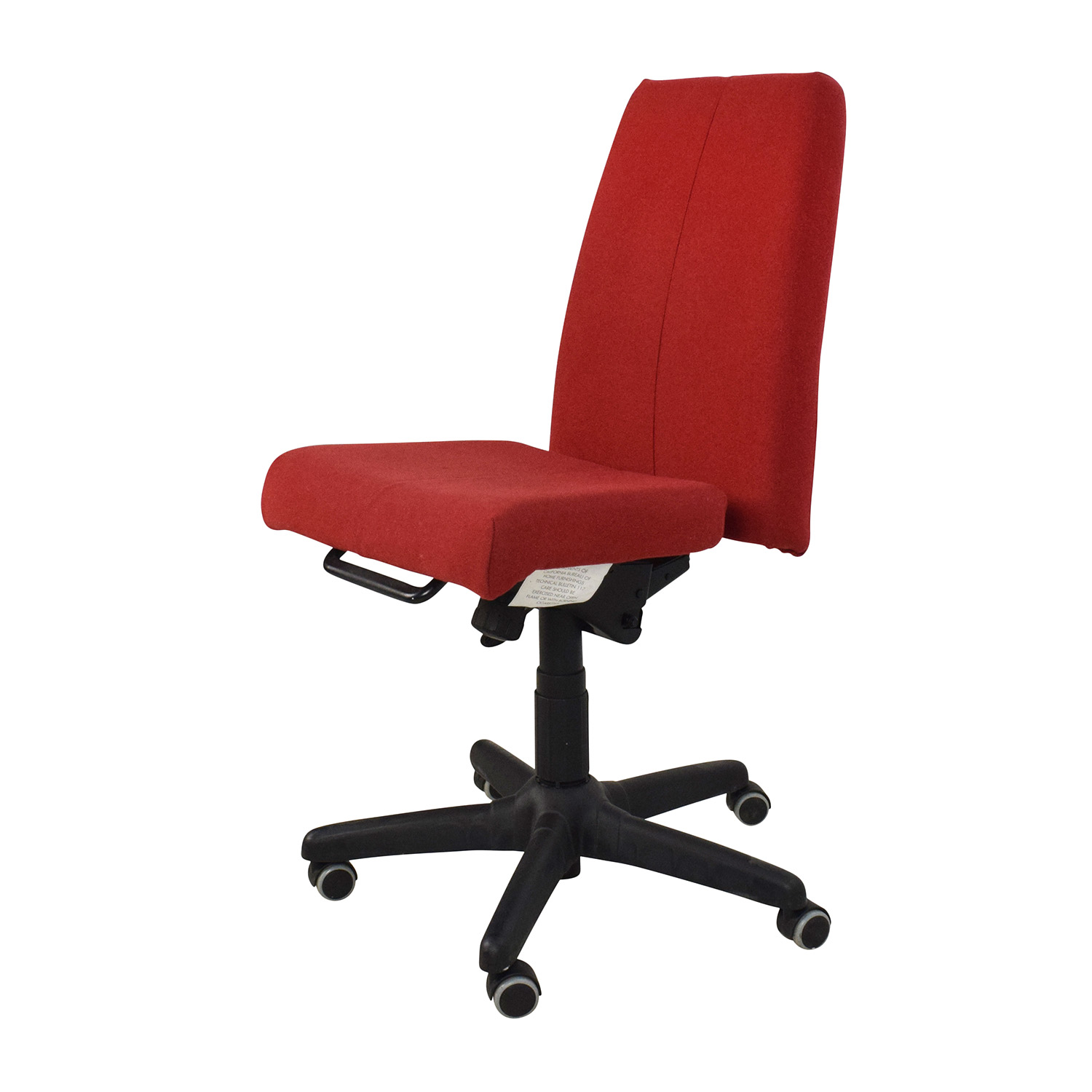 At Home Chairs 90 Off Red Armless Adjustable Home Office Chair Chairs