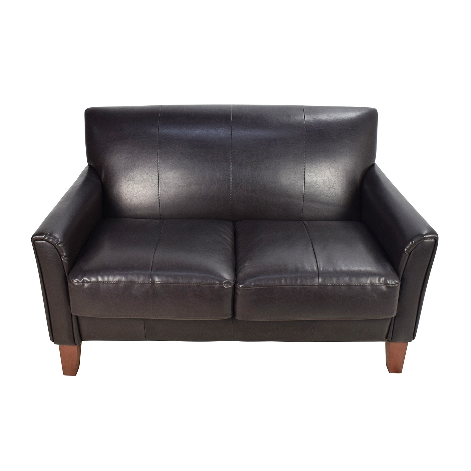 leather sofa furniture stores nyc gray with jute rug 53 off black loveseat sofas