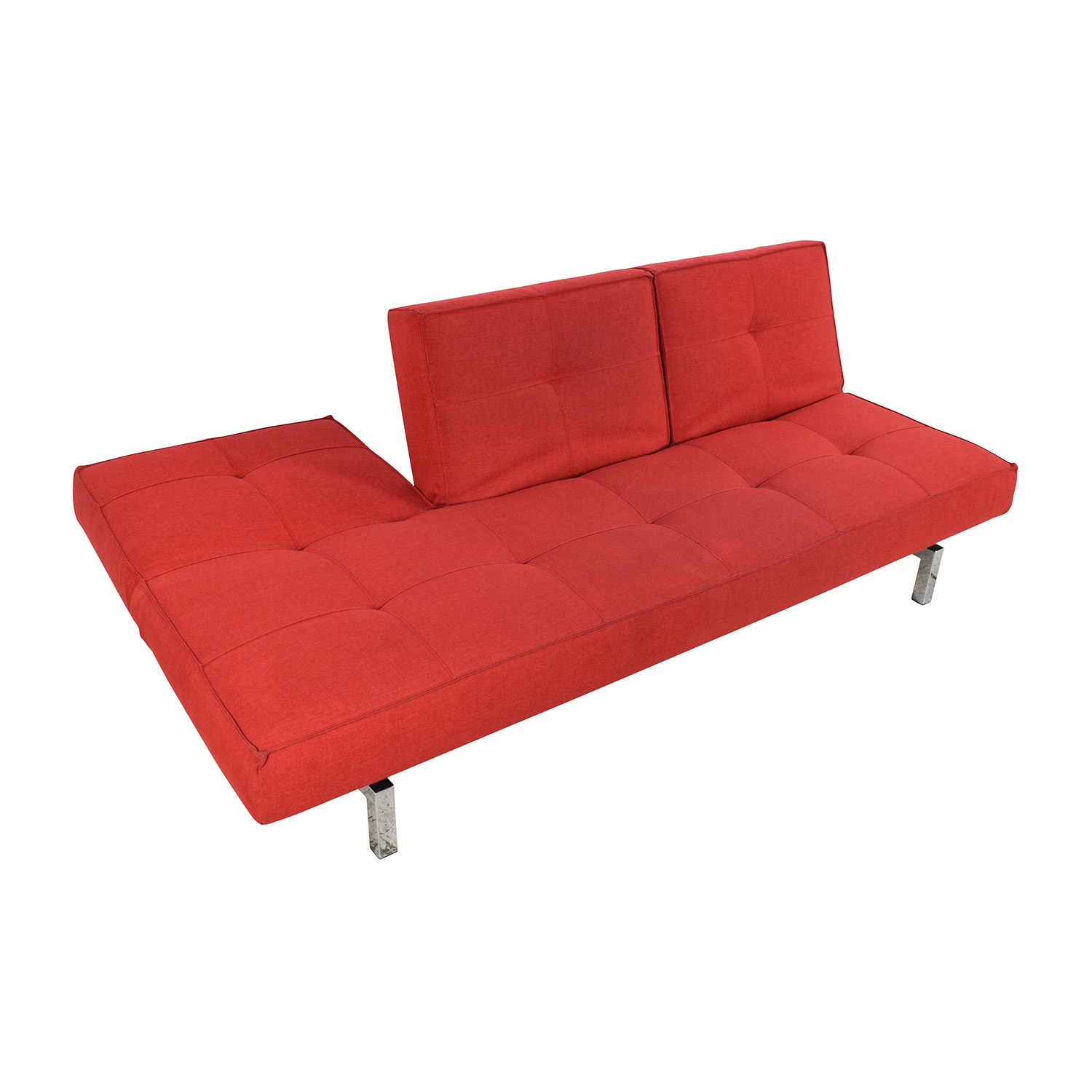 room and board sectional sofa bed anese floor 51 off eden convertible red