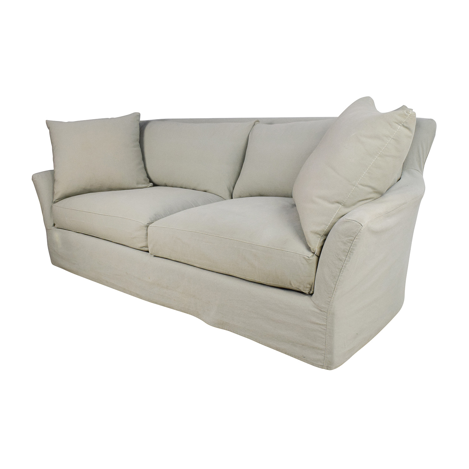 crate and barrel willow twin sleeper sofa reversible pet extra long slipcover rochelle home the honoroak