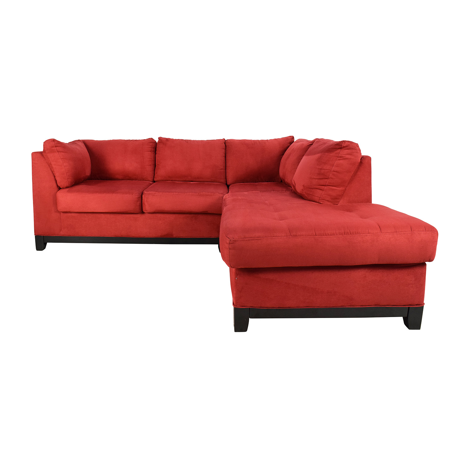 red sectional sofa everest charcoal microfiber audidatlevante