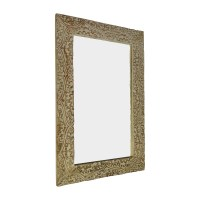 61% OFF - Wayfair Wayfair Fleur Gray Carved Mirror / Decor