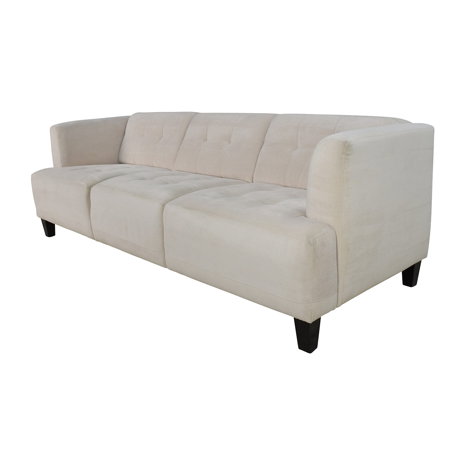 button tufted sofas black leather sofa cushion covers 56 off macy 39s alessia pearl