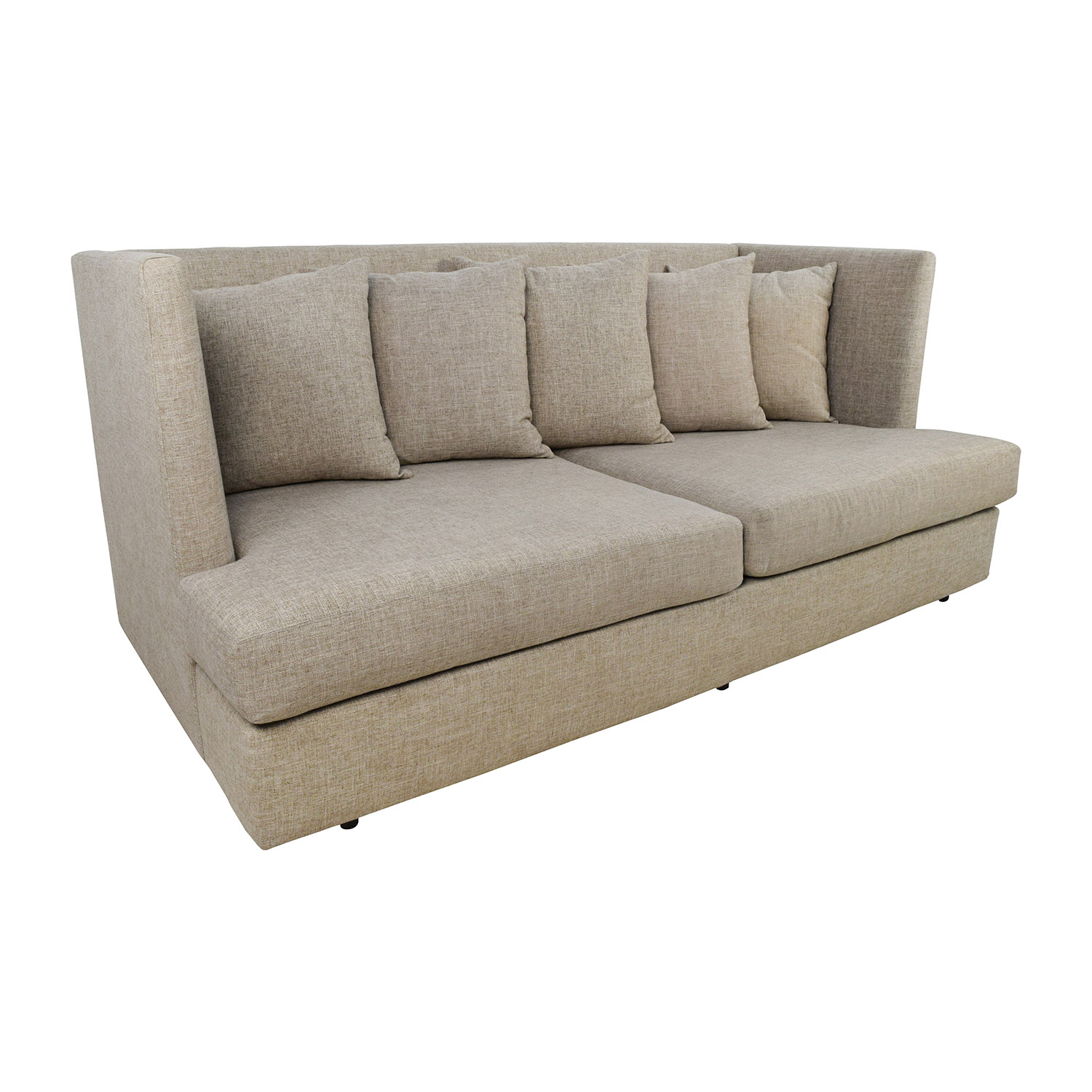 crate and barrel shelter sofa dimensions standard 4 seater 34 off beige