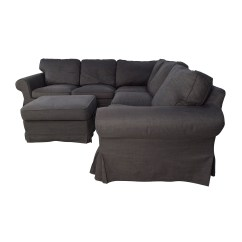 Ikea Chair With Ottoman Ingenuity 3 In 1 Smartclean High 39 Off Ektorp Gray Corner Sectional