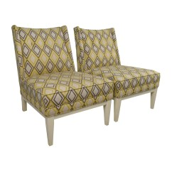 Gray And Yellow Accent Chair Hardwood Floor Mat 84 Off Jonathan Adler Morrow