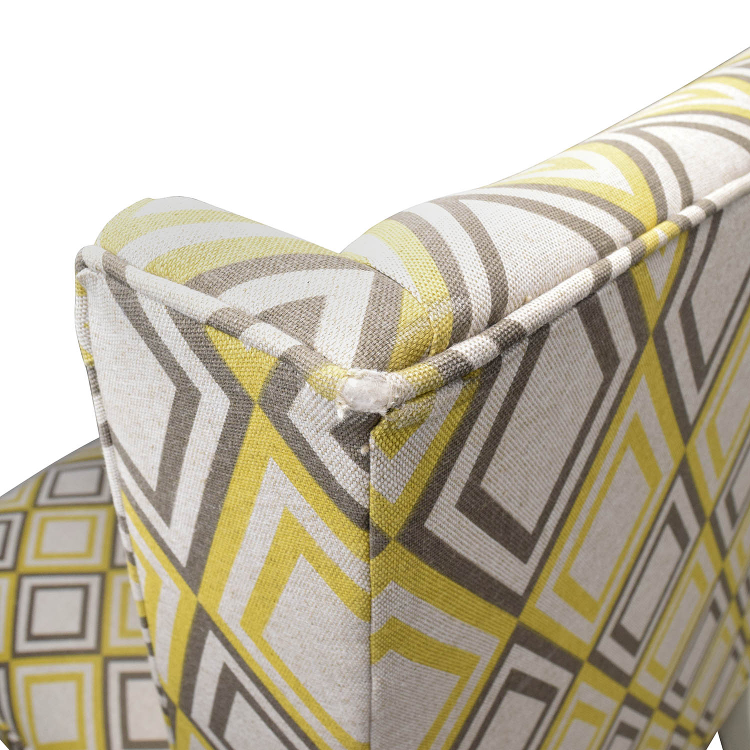 Yellow And Grey Accent Chair 84 Off Jonathan Adler Jonathan Adler Morrow Yellow And