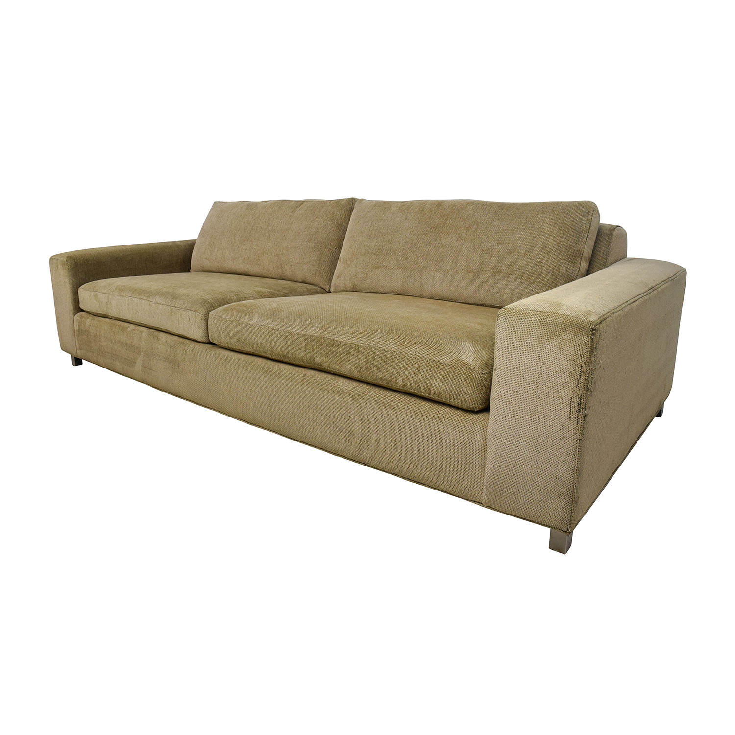 room and board sectional sofa bed sure fit stretch pique three piece slipcover 89 off gold tan fabric