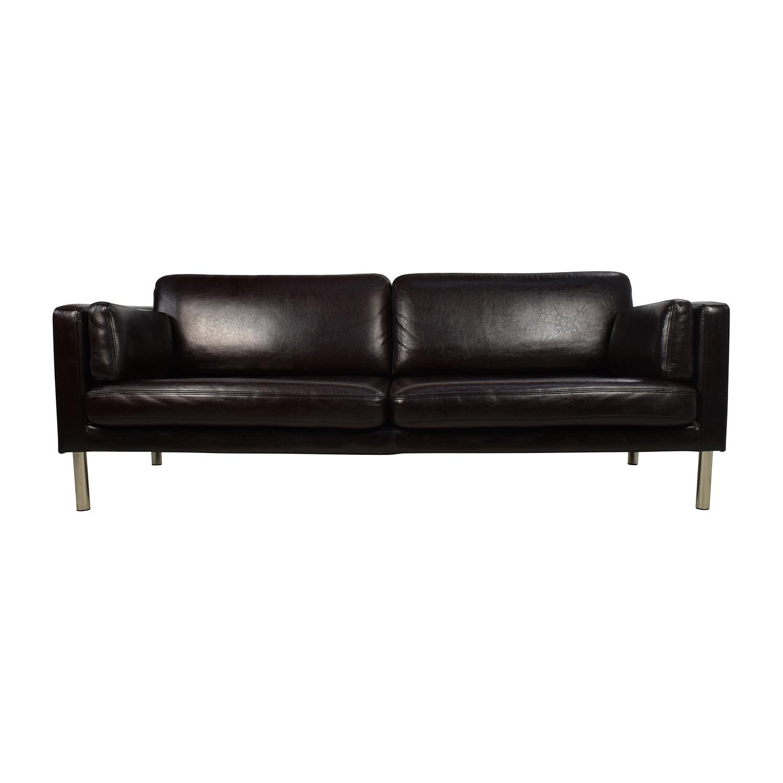 crate and barrel verano sofa smoke 250 57 off couch sofas