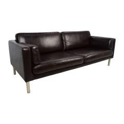Sofas With Legs Actona Sofa 76 Off Brown Leather Chrome