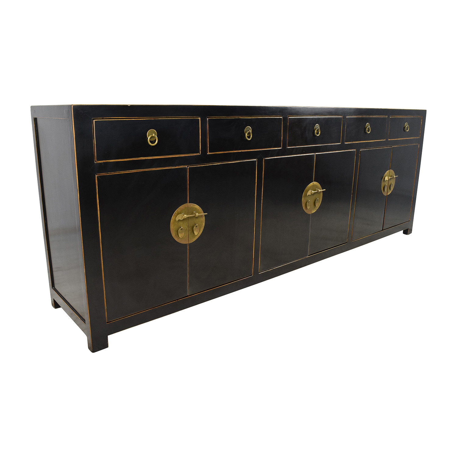 85 OFF  Custom Made Black Drawer and Cabinet Sideboard