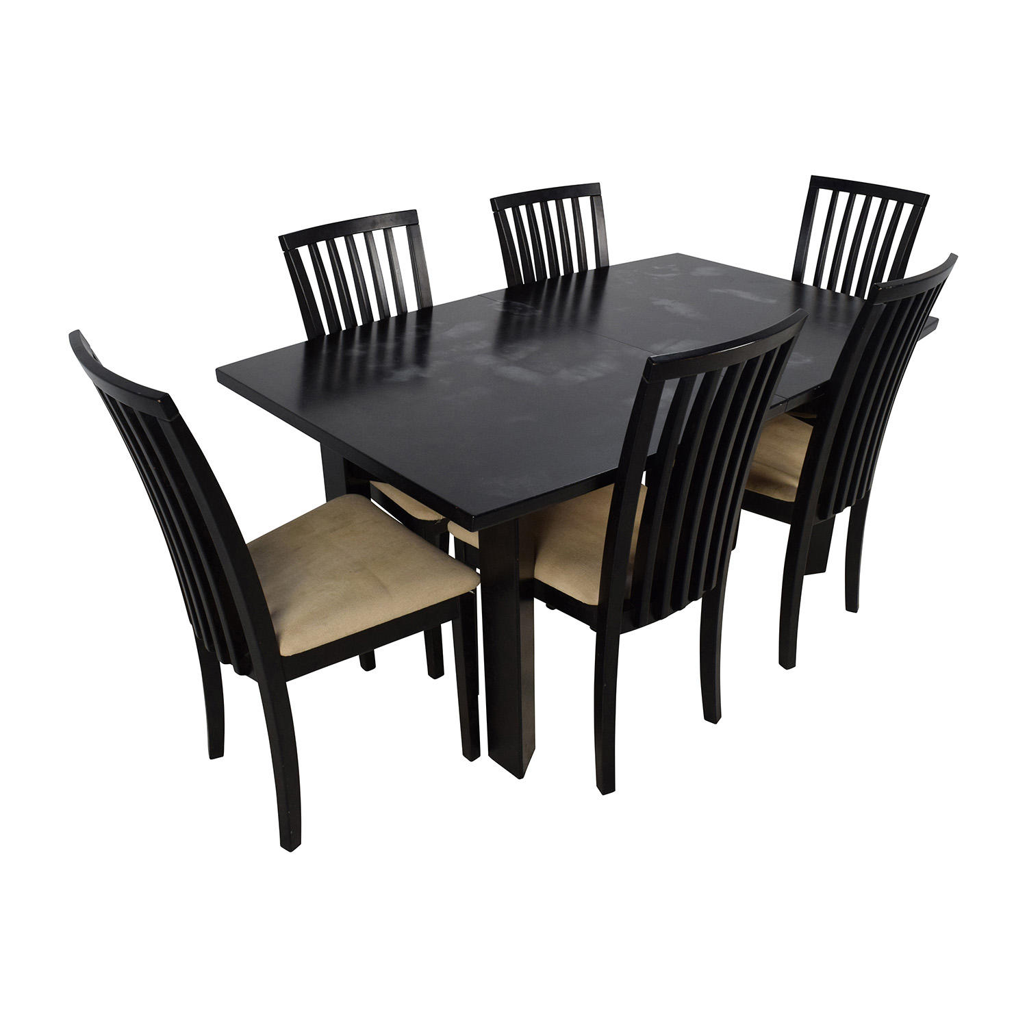 dining table set 6 chairs outdoor chaise lounge under 100 90 off skovby sm 24 with butterfly