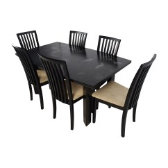 6 Chair Dining Table Camp With 90 Off Skovby Sm 24 Butterfly