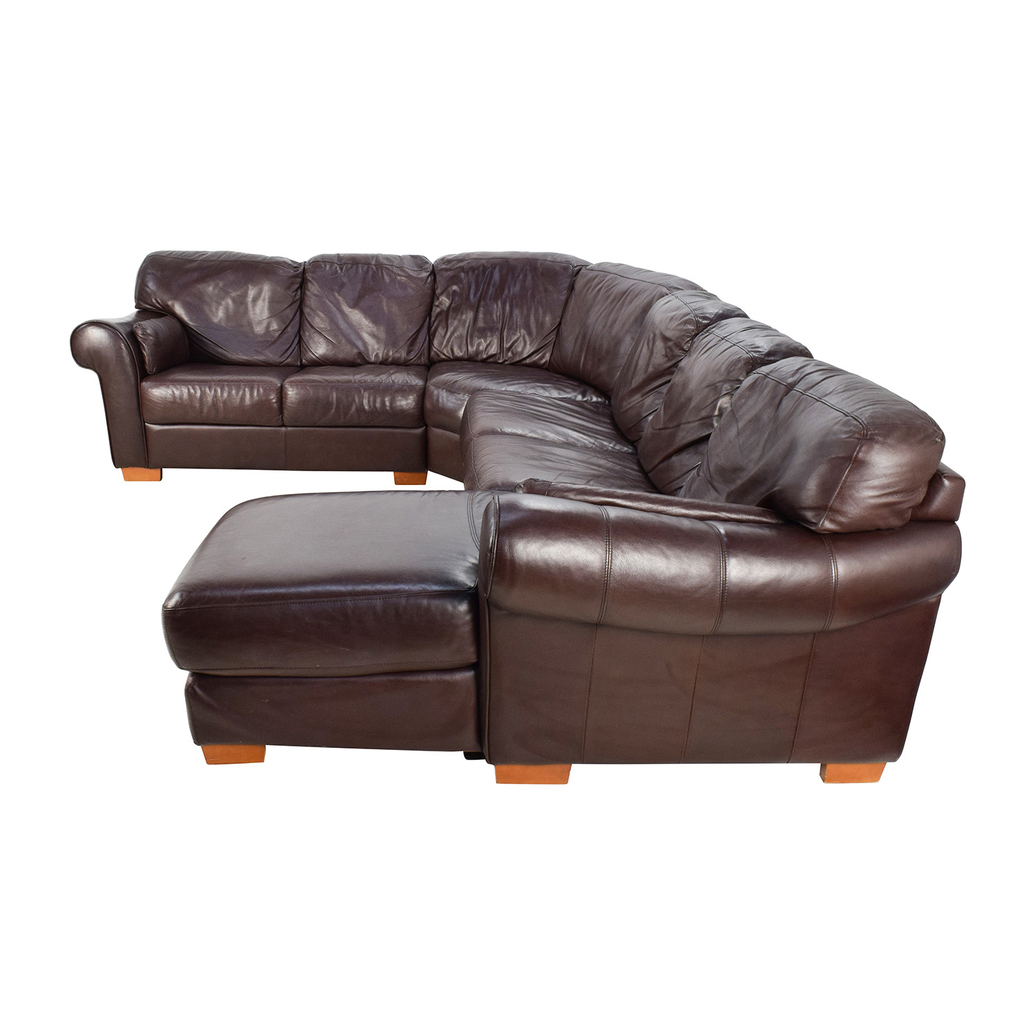 4 piece recliner sectional sofa storage sofas australia 63 off raymour and flanigan
