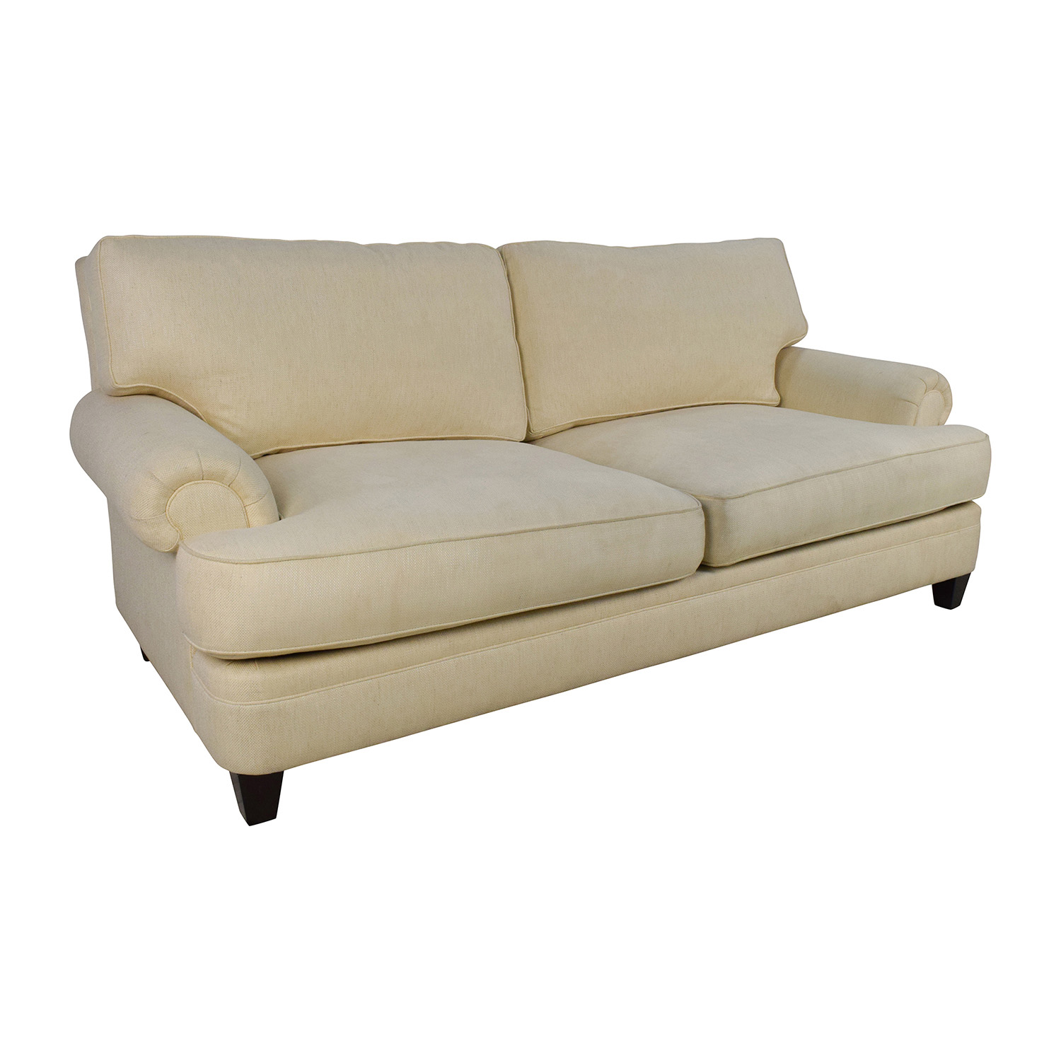 henredon sofa fabrics motion sofas on sale 83 off fireside short beige 3 seater