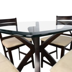 Counter Height Table And Chair Sets Room Board Pike 53 Off Glass Wood With Four