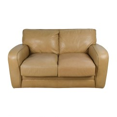 Tan Sofa And Loveseat Shallow Under Storage 50 Off Beige Leather Sofas