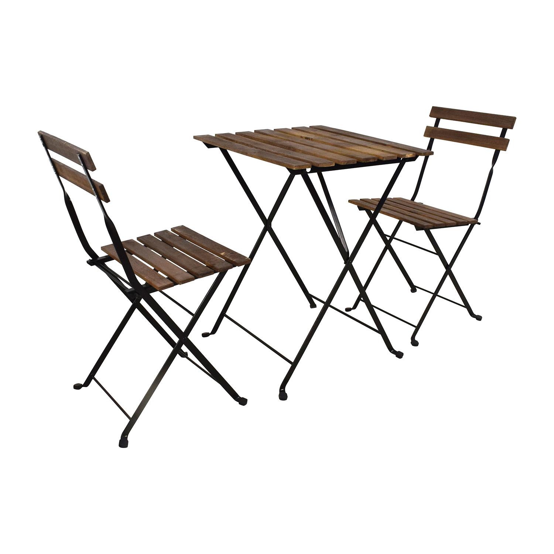 46 OFF IKEA IKEA Tarno Folding Table And Two Folding