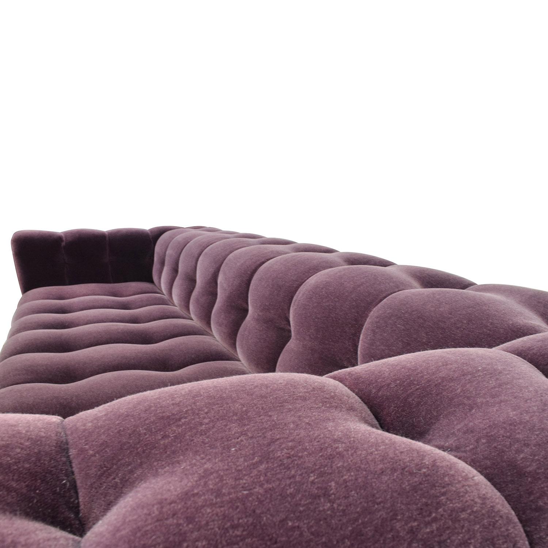 emma tufted sofa multi colored fabric sofas excellent grey decenni