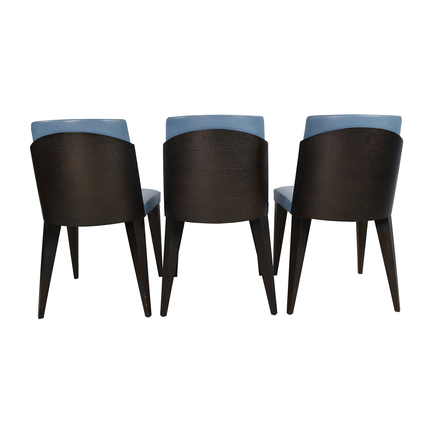 Blue Leather Dining Chairs 90 Off Potocco Potocco Blue Leather Dining Chairs Chairs