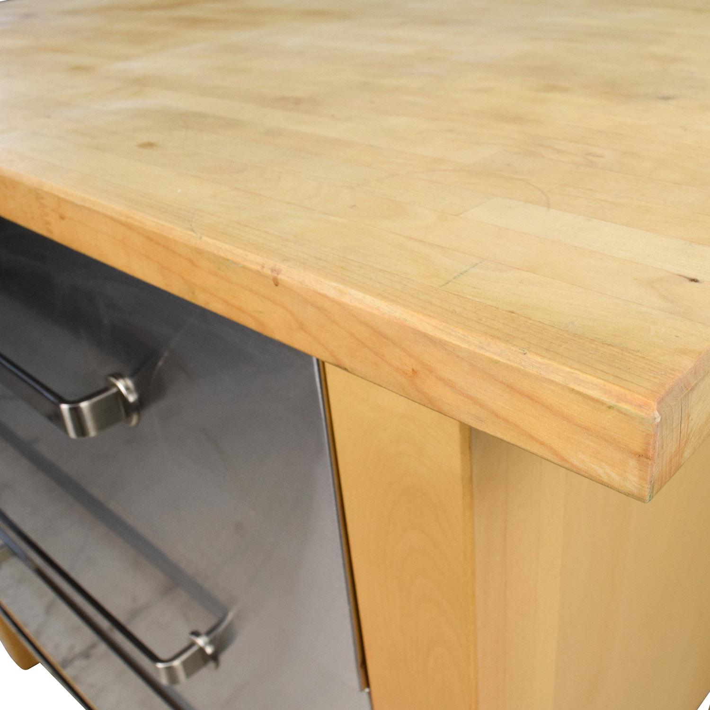 kitchen island butcher block cabinets kings 62% off - ikea varde ...