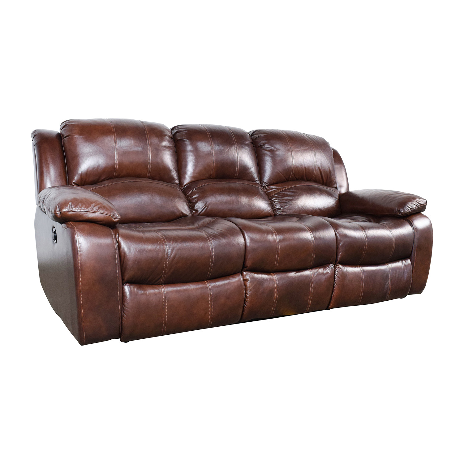 deacon leather power reclining sofa reviews small black bryant ii www