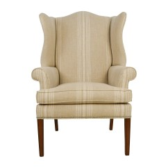 Ethan Allen Wingback Chairs Purple Accent Chair Uk 88 Off Skylar Stripped Wing