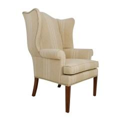 Striped Wingback Chair Folding Big W 88 Off Ethan Allen Skylar Stripped Wing