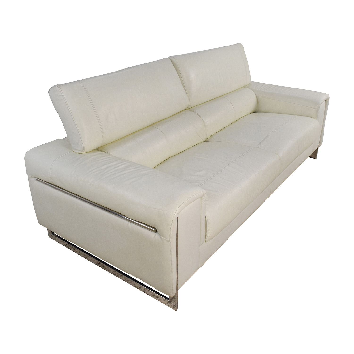j m paquet sofa sagging support reviews 64 off jnm and soho white leather sofas