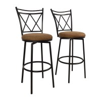 65% OFF - Upholstered Swivel Bar Stools / Chairs