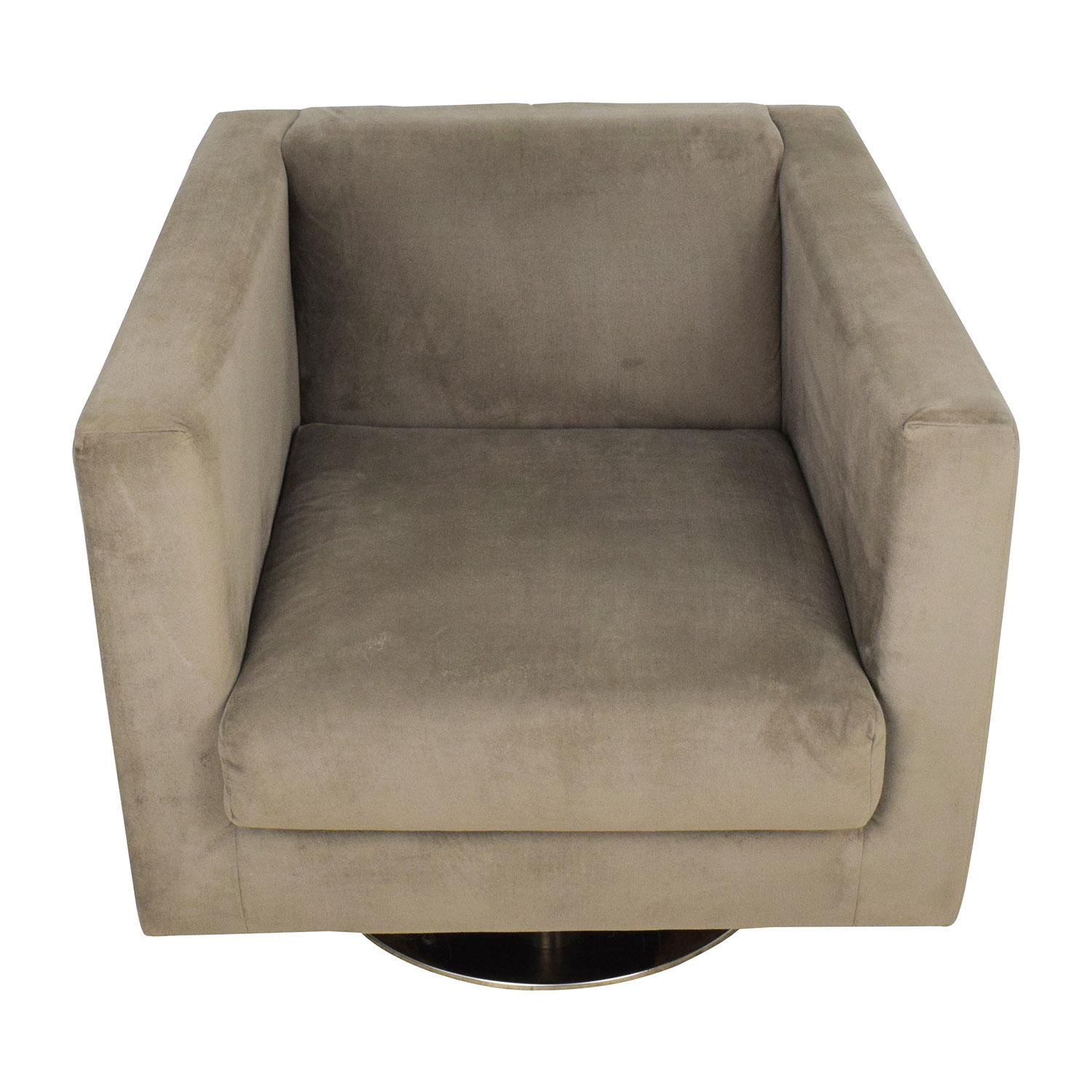 swivel chairs for sale royal blue velvet 88 off crate barrel clara brown rowe grey chair