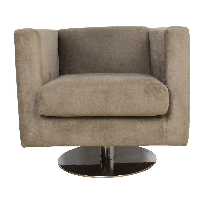 79 OFF  Rowe Rowe Grey Swivel Chair  Chairs