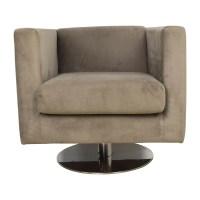 79% OFF - Rowe Rowe Grey Swivel Chair / Chairs
