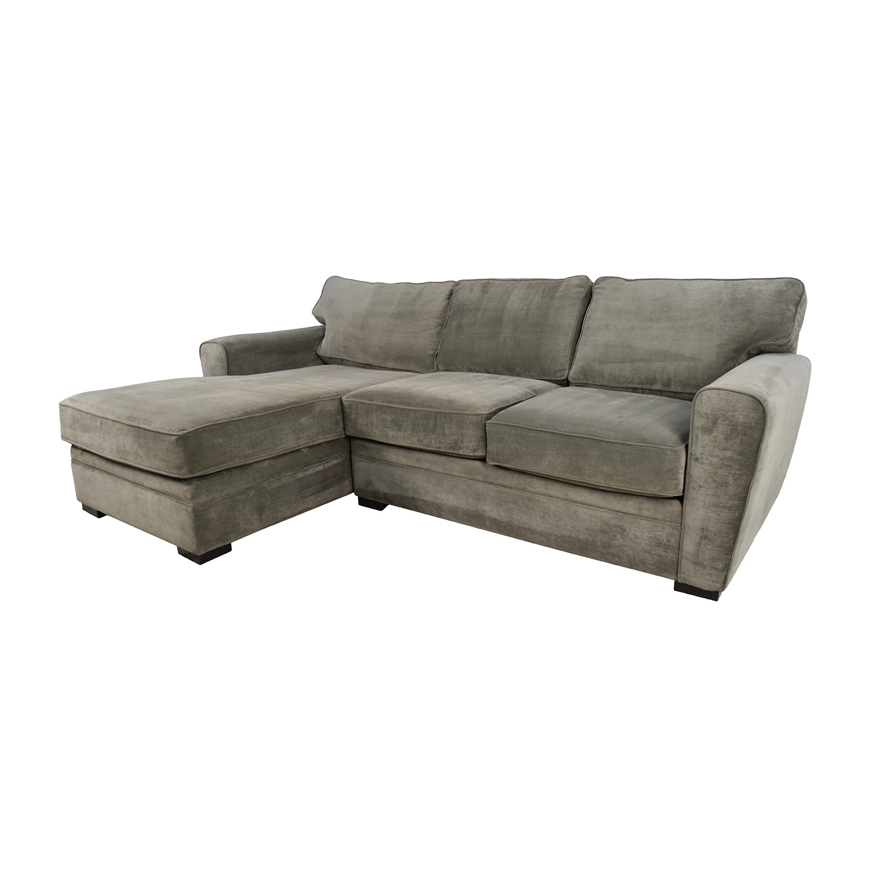 raymour and flanigan sectional sofas camelback skirted sofa 58 off grey
