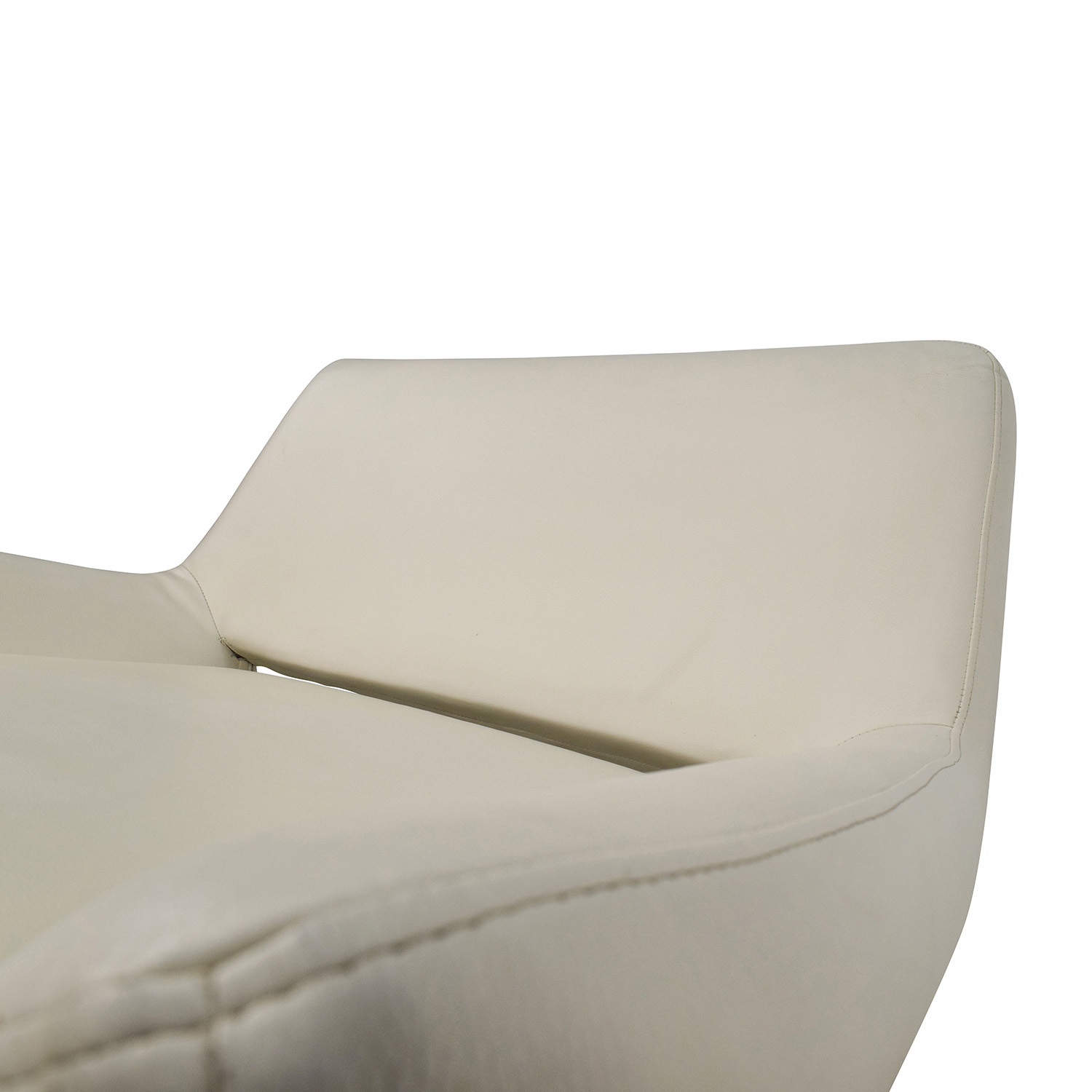 white faux leather chair hanging room 85 off accent chairs