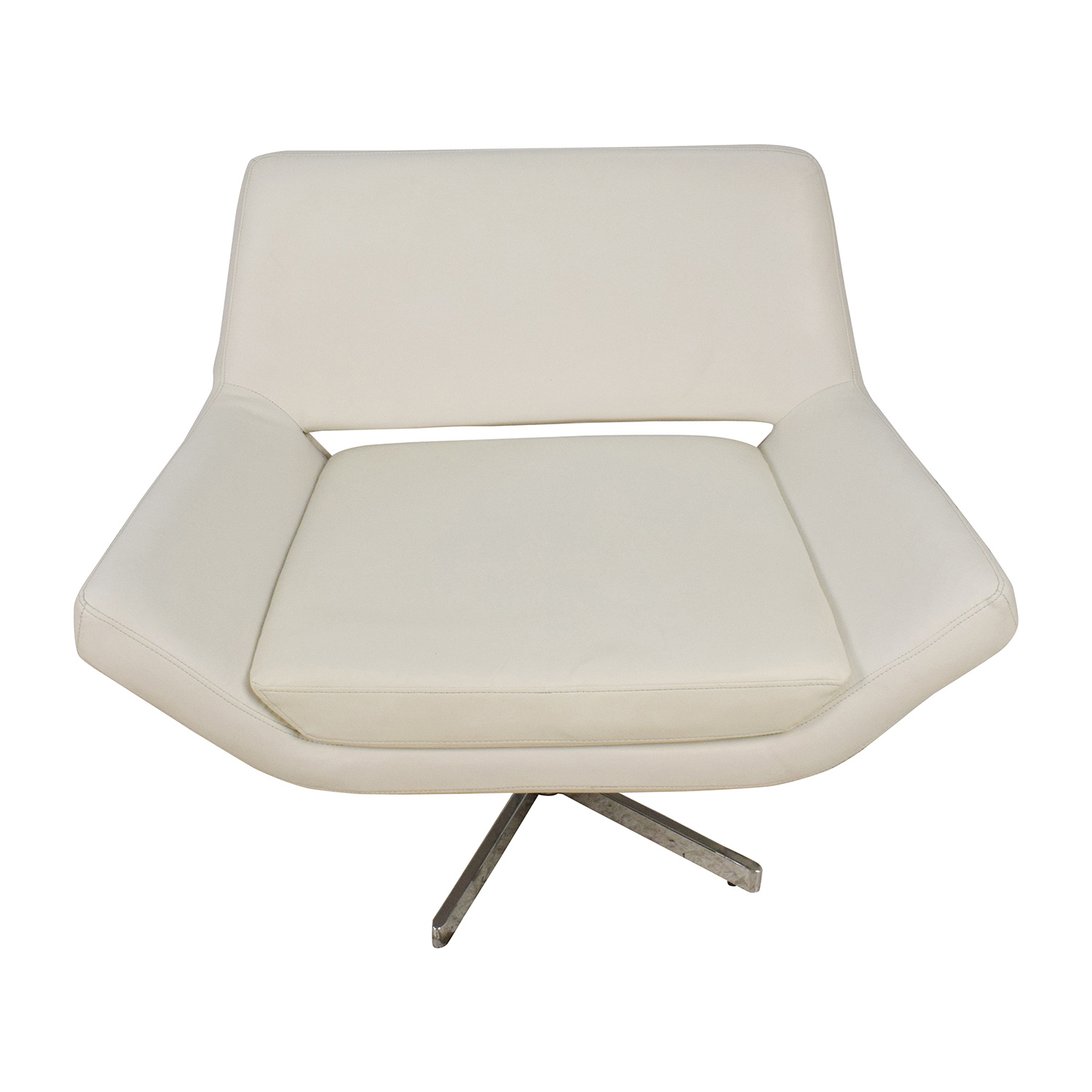white faux leather chair portable baby 85 off accent chairs