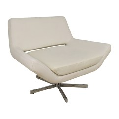 White Faux Leather Chair Sciatica Cushion For Office 85 Off Accent Chairs