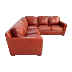 Thomasville Reclining Sofa Bed For Small Condo 68 Off Red Leather Sectional