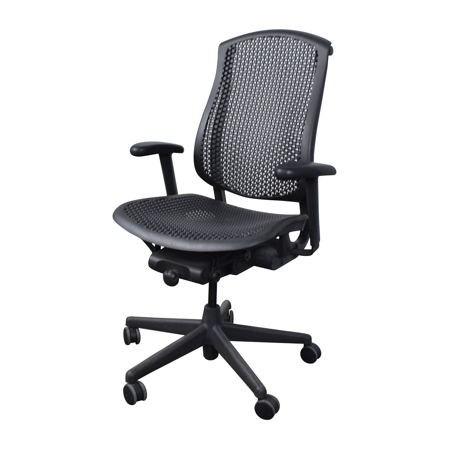 desk chair herman miller eiffel wood legs 63 off celle office