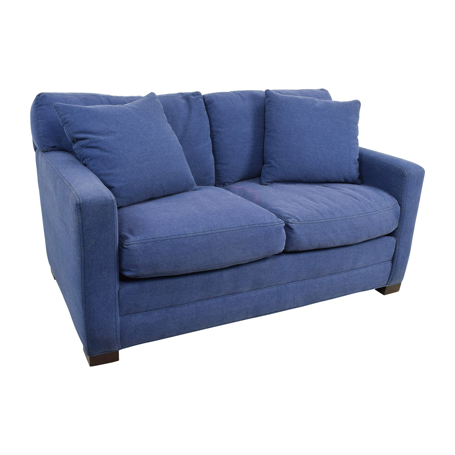 blue jean stain on sofa corner bed chaise longue the most stylish as well attractive denim loveseats
