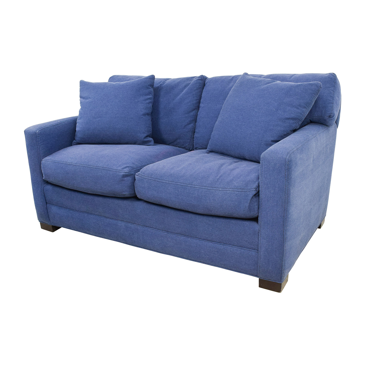 white denim sofa covers used and loveseat for sale junk gypsy blue jean chesterfield