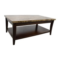71% OFF - Marble and Wood Coffee Table / Tables