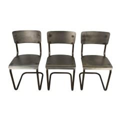 Set Of Chairs Vanity Chair For Bathroom 90 Off Restoration Hardware Martine Tufted Industrial Style Metal Coupon