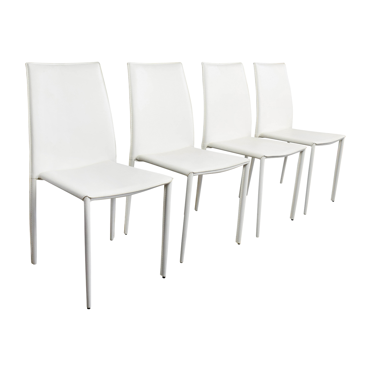 Modern White Dining Chair 77 Off All Modern All Modern White Leather Dining