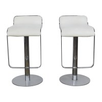 88% OFF - All Modern All Modern White Leather Bar Stools ...